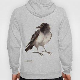 Crow decor, hooded crow art Hoody