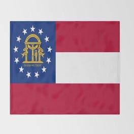 flag of the state of Georgia-Georgian,Gone with the wind,Atlanta,Colombus,Macon,Scarlett o'Hara,Usa Throw Blanket