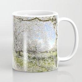 The  Farm Track Snow Coffee Mug