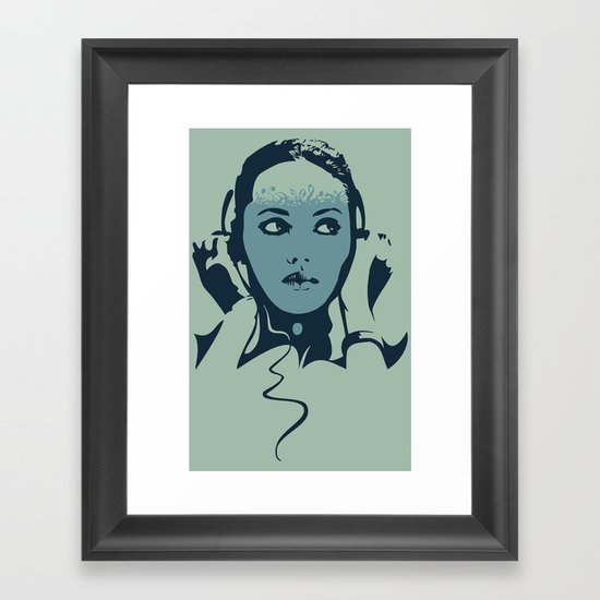Monitoring Framed Art Print