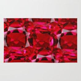 RUBY RED JULY GEM BIRTHSTONE  ART Rug