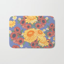 Blue Bloom Bath Mat