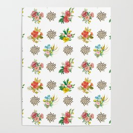 Pretty Floral Boutiques of Flowers Poster