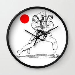 Judo tai otoshi Wall Clock