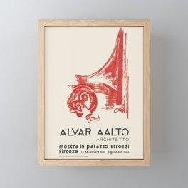 Exhibition poster-Alvar Aalto-Mostra in plazzo strozzl Firenze. Framed Mini Art Print