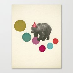 Birthday Bear Canvas Print