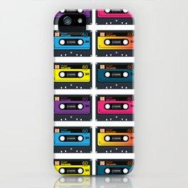 Vintage audio tape iPhone Case