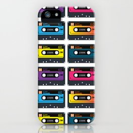 Vintage audio tape iPhone Case