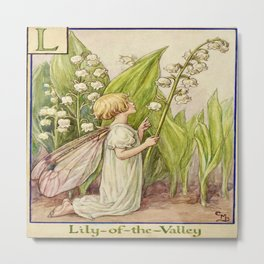 """""""The Lily of the Valley Fairy"""" by Cicely Mary Barker  Metal Print"""