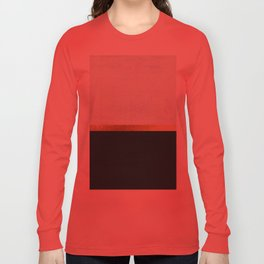 Deep Green, Gold and White Color Block Long Sleeve T-shirt