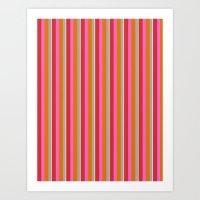 VIBRANT COLOR STRIPES Art Print