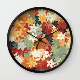 Colorful Flowers Wall Clock