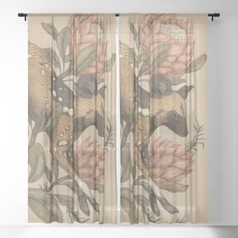 African Wild Dog Sheer Curtain