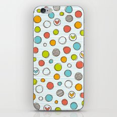 Another pattern with hearts. iPhone & iPod Skin