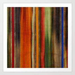 Boho Stripes Art Print