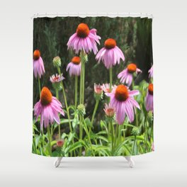 Maximum Flower Effect Shower Curtain