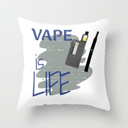 Cool Yes I Vape Is Life Shirt Dad Math god meme Design Decal Smok Decor Throw Pillow