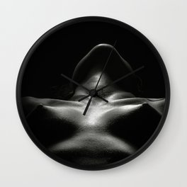 Dark Nude Woman Wall Clock