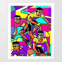 80s cycling Art Print