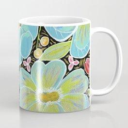 Aqua poppies Coffee Mug