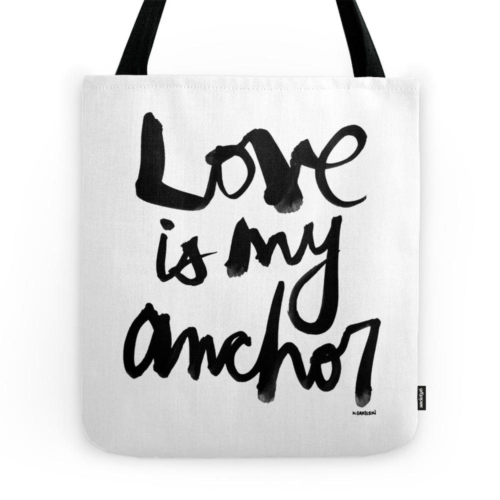 Love Is My Anchor Tote Purse by bikinibabe (TBG7818709) photo