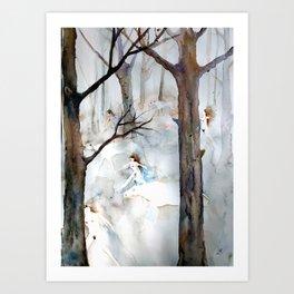 Predawn Dream on a Rainy Night Art Print