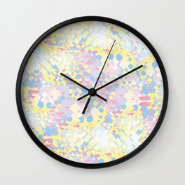 Yellow Blue Pink Wall Clock