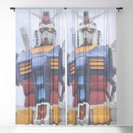 Gundam Stare Sheer Curtain