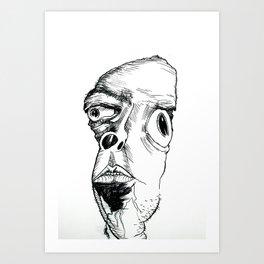 Sock Boy. Art Print