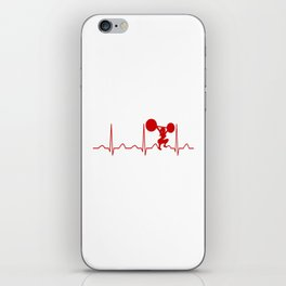 WEIGHTLIFTING WOMAN HEARTBEAT iPhone Skin