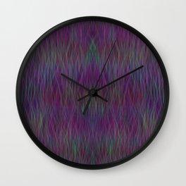 Multi- coloured Grass Design Wall Clock