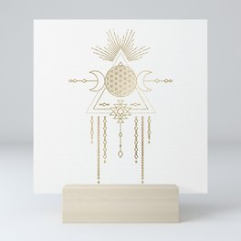 Golden Goddess Mandala Mini Art Print