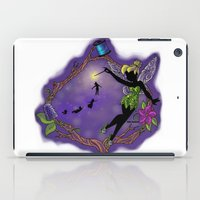 tinker bell iPad Cases featuring Sihouette Tinker Bell by Katie Simpson a.k.a. Redhead-K