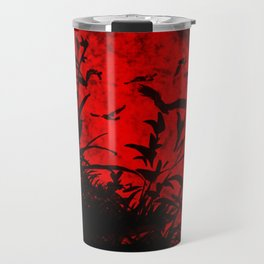 Red Birds, Red Night Travel Mug