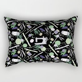 Stitch Witch (Purple/Green) Rectangular Pillow