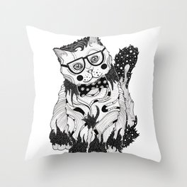 Super Intelligent Cat Throw Pillow