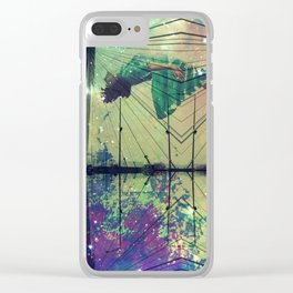 Bridging Time Clear iPhone Case