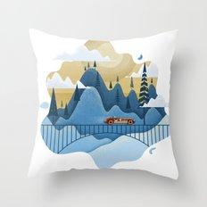 Mountain Race Throw Pillow