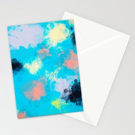 Abstract Paint splatter design Stationery Cards