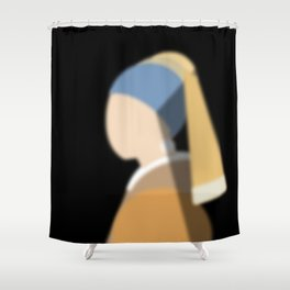 Girl with pearl earring Shower Curtain