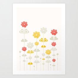 I heart flowers Art Print