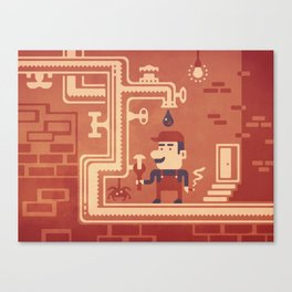 Mario at work Canvas Print