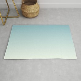 Teal Fade to Mint Rug