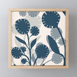Wildflowers Large - Blue Framed Mini Art Print