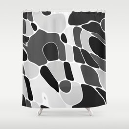 Funky Abstract 4 Shower Curtain
