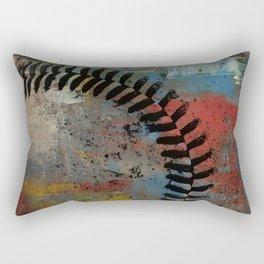 Painted Baseball Rectangular Pillow