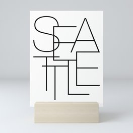 SEATTLE Art Print, Black and White, Seattle Poster, Typography Print, Travel Poster, Modern Art Print, WASHINGTON STATE Print, Travel Art, Gift, Housewarming, Hometown Mini Art Print