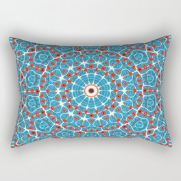 Coral Reef Mandala Rectangular Pillow