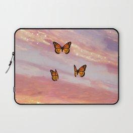 Butterfly Sunset Aesthetic Laptop Sleeve