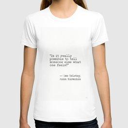 Leo Tolstoy Anna Karenina book quote T-shirt